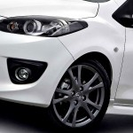Mazda 2 Headlight And Front Wheel Wallpaper