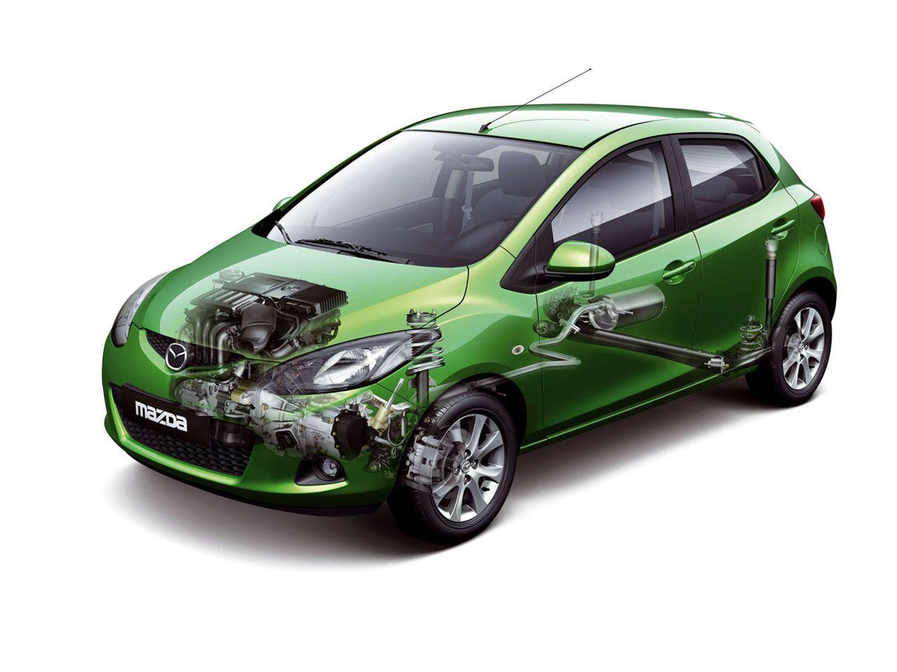 Mazda 2 Showing Engine Wallpaper 1280x960