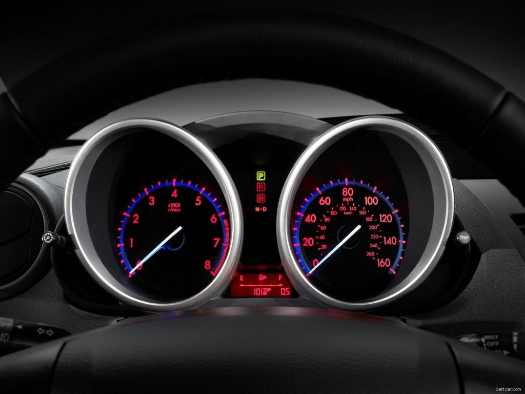 Mazda 3 2010 Sedan Instrument Panel Wallpaper 1024x768