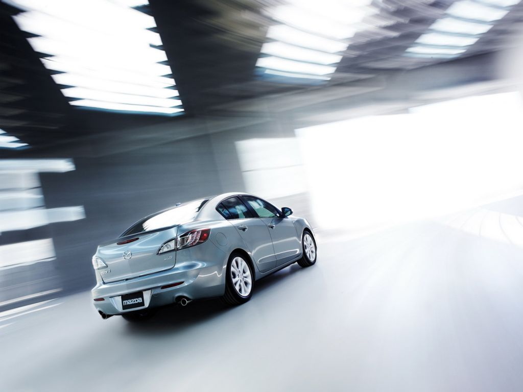 Mazda 3 2010 Sedan Rear View Wallpaper 1024x768