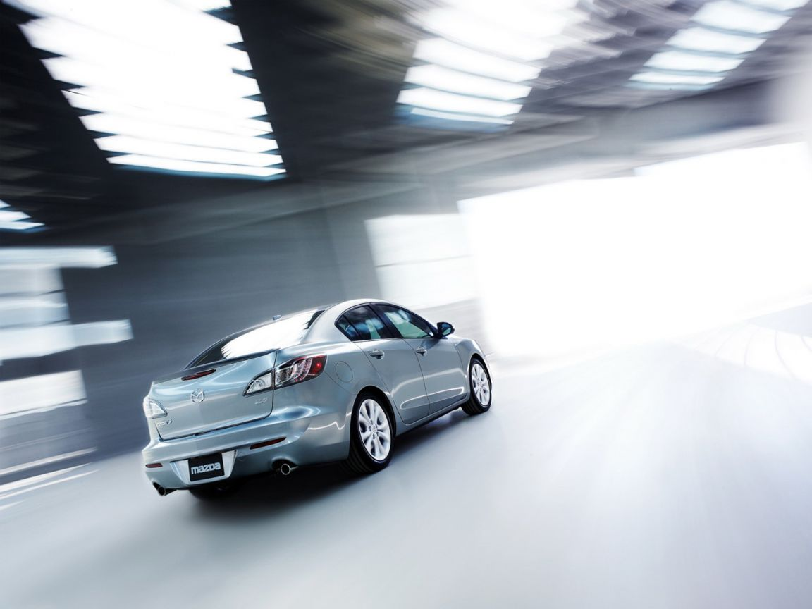 Mazda 3 2010 Sedan Rear View Wallpaper 1152x864