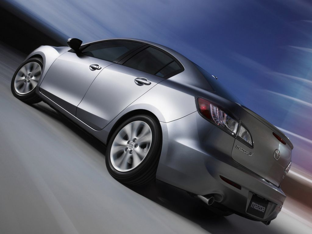 Mazda 3 2010 Sedan Side Rear Low Angle Wallpaper 1024x768