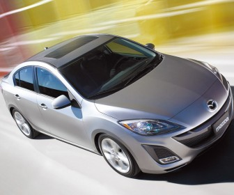 Mazda 3 2010 Silver Front Side High Angle Wallpaper