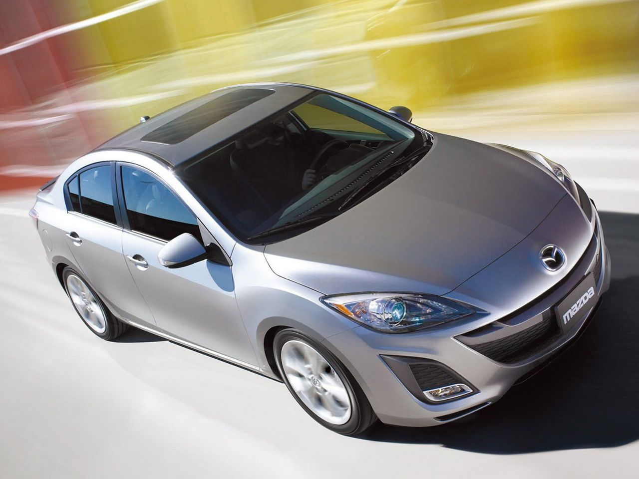 Mazda 3 2010 Silver Front Side High Angle Wallpaper 1280x960