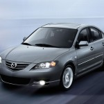 Mazda 3 2010 Silver Moving Lights On Wallpaper