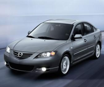 Mazda 3 2010 Silver Moving Lights On Wallpaper