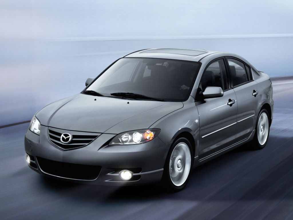 Mazda 3 2010 Silver Moving Lights On Wallpaper 1024x768