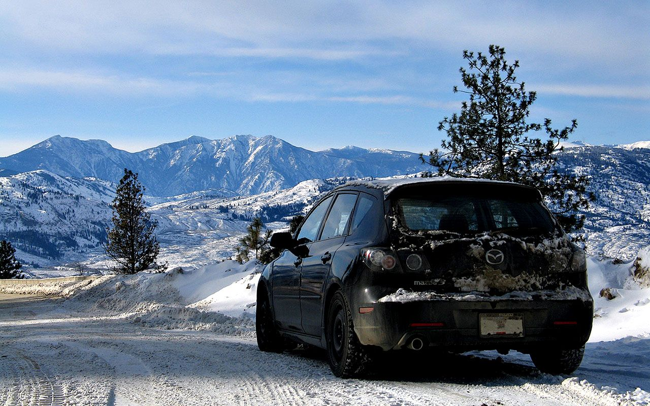 Mazda 3 Hatchback Winter Wallpaper 1280x800