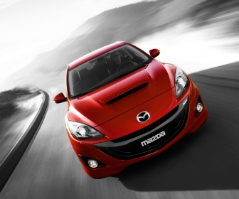 Mazda 3 Mps Red Front High Angle Wallpaper