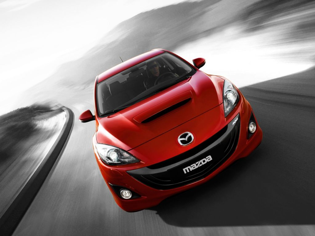 Mazda 3 Mps Red Front High Angle Wallpaper 1024x768