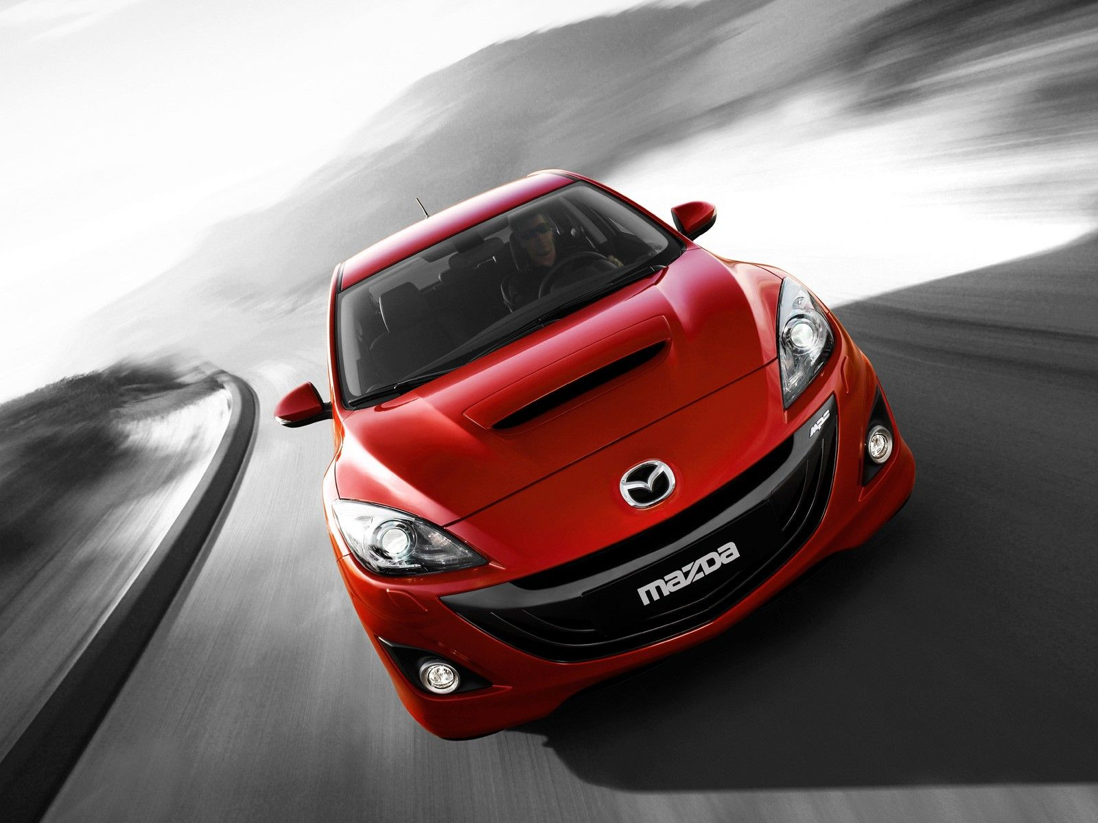Mazda 3 Mps Red Front High Angle Wallpaper 1600x1200