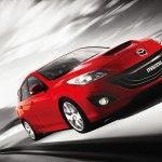Mazda 3 Mps Red Front Low Angle Moving Wallpaper