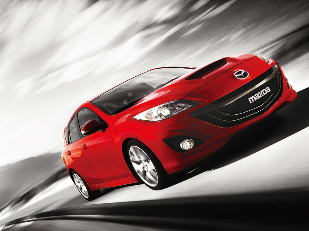 Mazda 3 Mps Red Front Low Angle Moving Wallpaper 1024x768