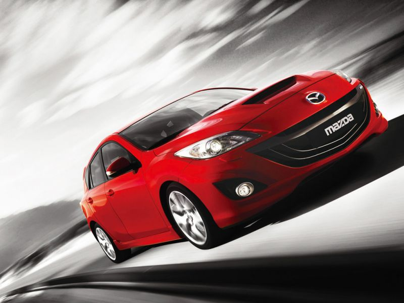 Mazda 3 Mps Red Front Low Angle Moving Wallpaper 800x600