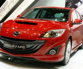 Mazda 3 Mps Red Front View Wallpaper