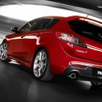 Mazda 3 Mps Red Rear View Wallpaper