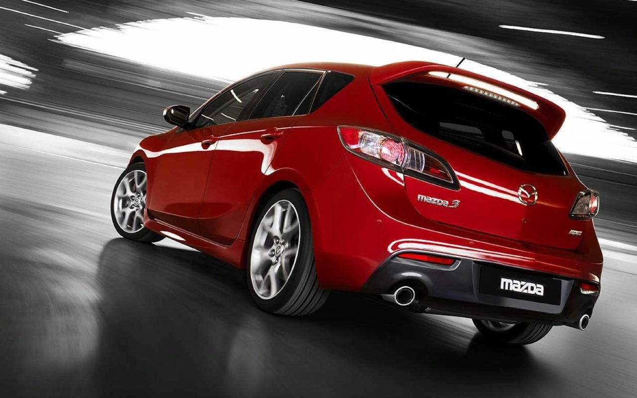 Mazda 3 Mps Red Rear View Wallpaper 1280x800