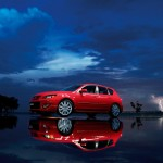 Mazda 3 Mps Red Reflection Wallpaper