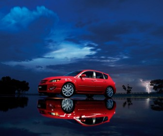 Mazda 3 Mps Red Reflection Wallpaper