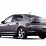 Mazda 3 Silver Axela Side Rear View Wallpaper