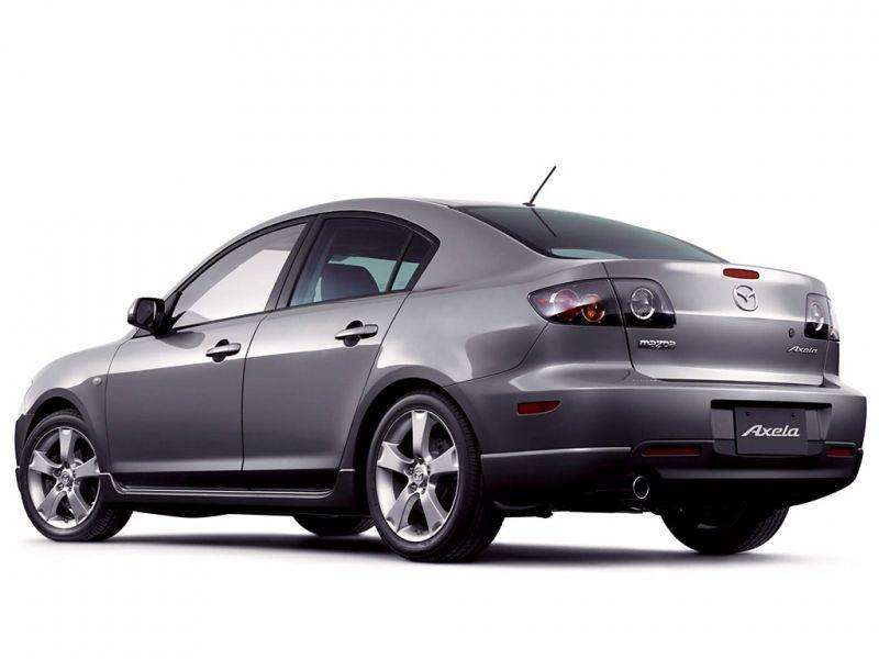 Mazda 3 Silver Axela Side Rear View Wallpaper 800x600