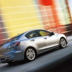 Mazda 3 Silver Side Rear Angle Moving Wallpaper
