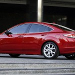 Mazda 6 Red Sedan Side View Wallpaper