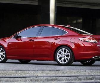 Mazda 6 Red Sedan Side View Wallpaper