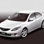 Mazda 6 White Sedan High Angle Wallpaper
