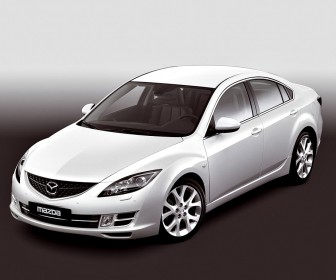 Mazda 6 White Sedan High Angle Wallpaper