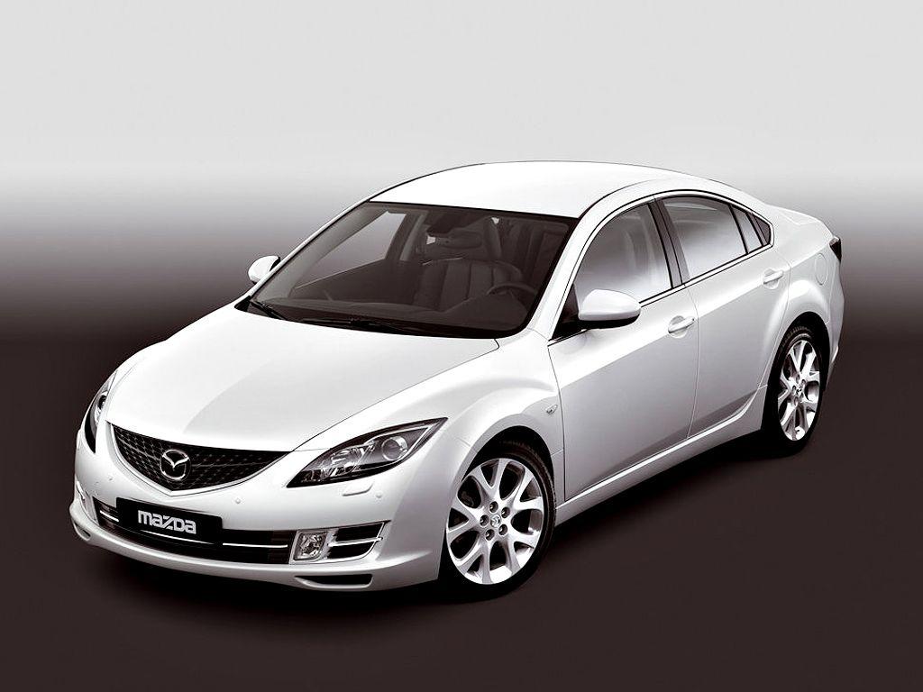 Mazda 6 White Sedan High Angle Wallpaper 1024x768