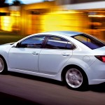 Mazda 6 White Sedan Moving Blurred Background Wallpaper