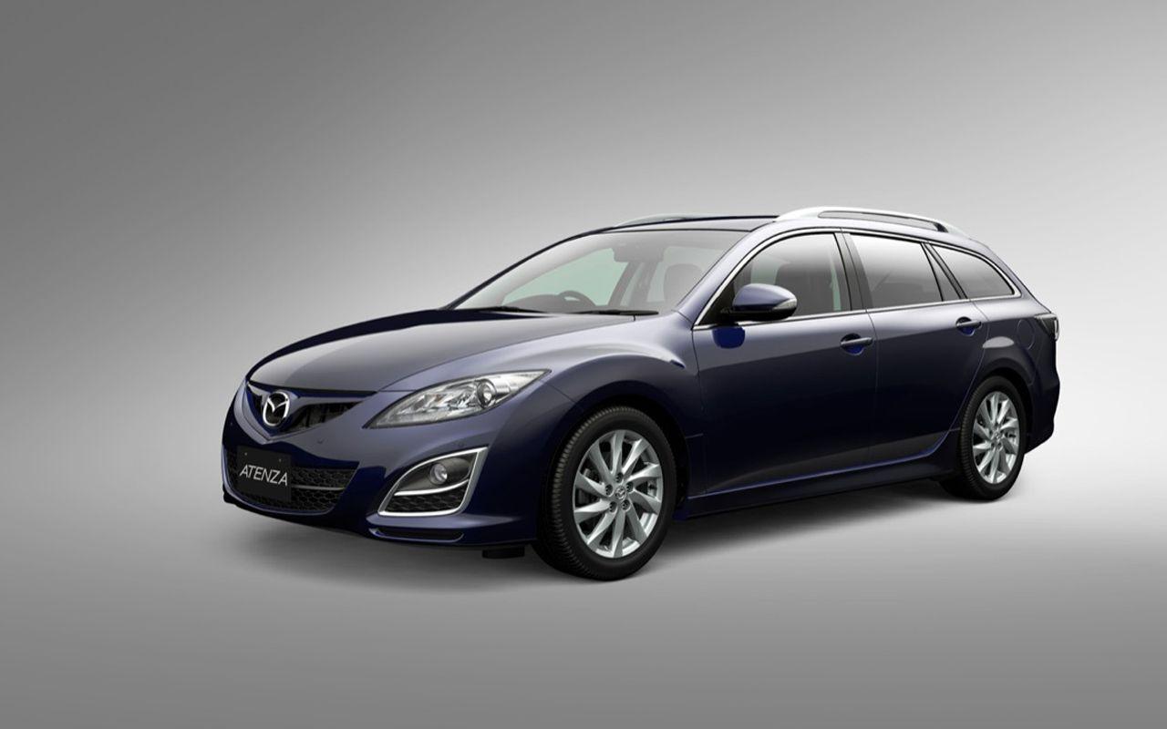 Mazda Atenza Blue Wagon Front Side Angle Wallpaper 1280x800