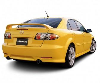 Mazda Atenza Yellow Rear View Wallpaper