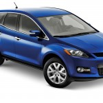 Mazda Cx7 Blue High Angle Wallpaper