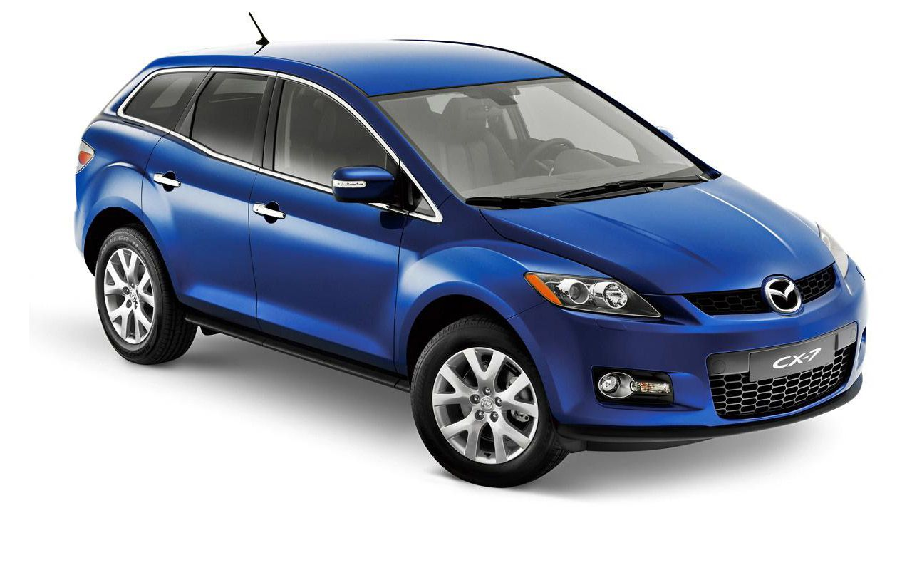 Mazda Cx7 Blue High Angle Wallpaper 1280x800