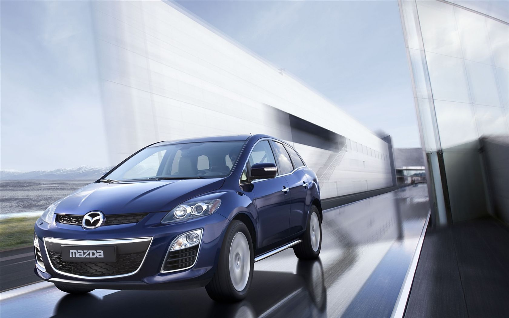 Mazda Cx7 Front View Moving Wallpaper 1680x1050