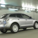 Mazda Cx7 Moving In Tunnel Wallpaper