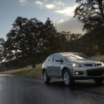 Mazda Cx7 On The Road Wallpaper