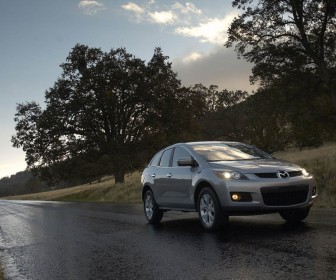 Mazda Cx7 On The Road Wallpaper