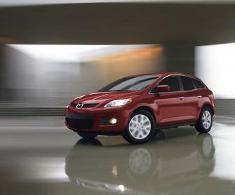 Mazda Cx7 Red Blurred Background Wallpaper