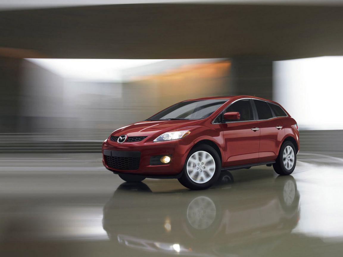 Mazda Cx7 Red Blurred Background Wallpaper 1152x864