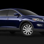 Mazda Cx9 Blue Front Side Low Angle Wallpaper