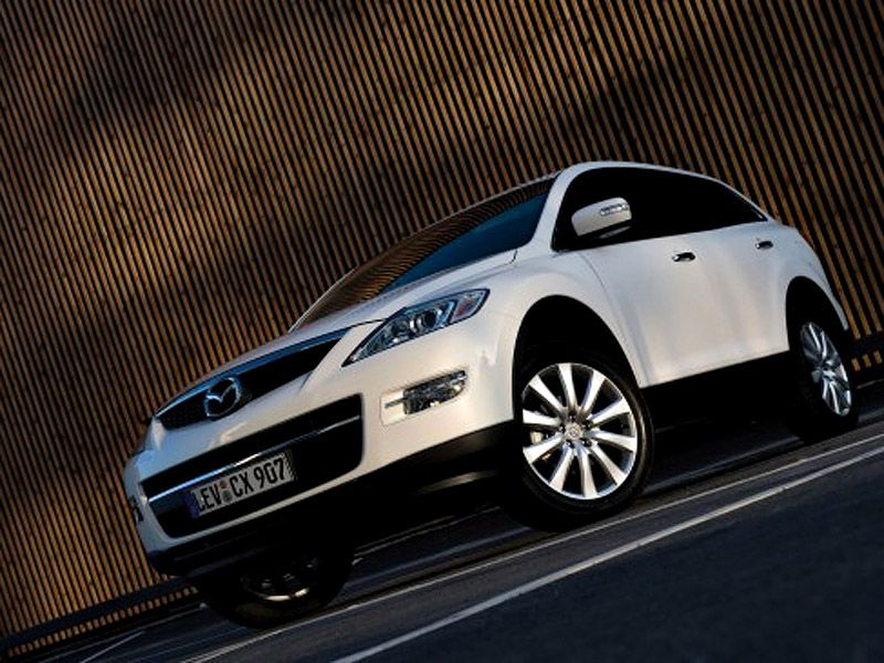 Mazda Cx9 White Front Side Low Angle Wallpaper 800x600