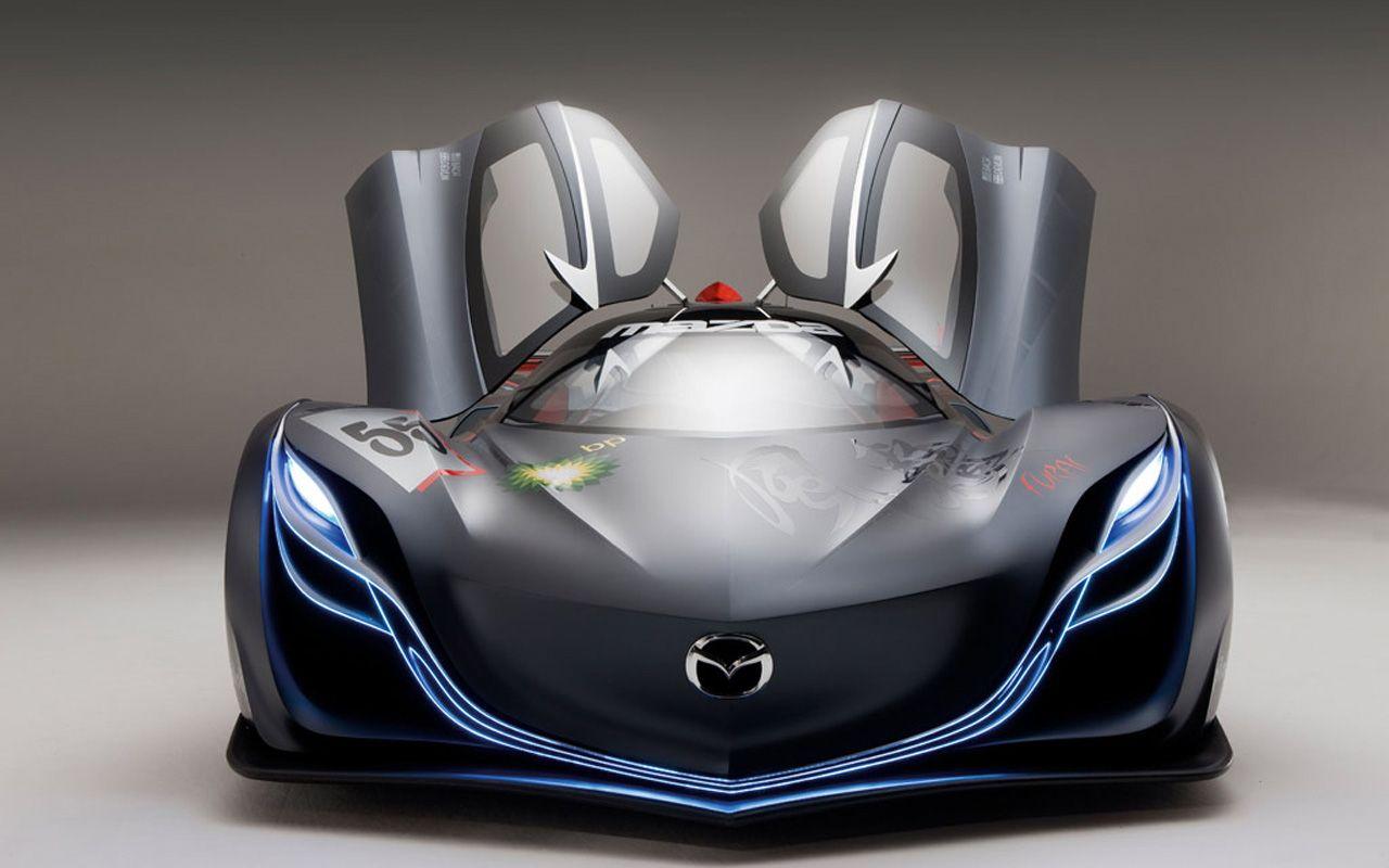 Mazda Furai Concept Doors Open Front View Wallpaper 1280x800