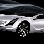 Mazda Kazamai Concept White Air Stream Wallpaper