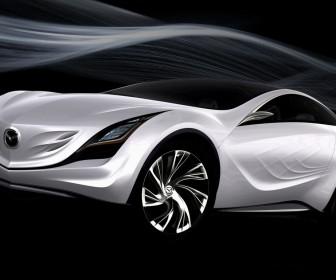 Mazda Kazamai Concept White Air Stream Wallpaper