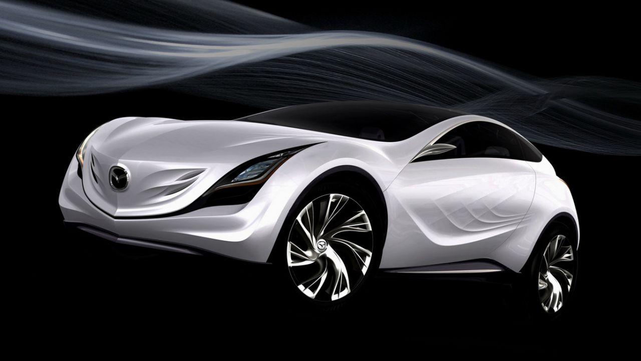 Mazda Kazamai Concept White Air Stream Wallpaper 1280x720