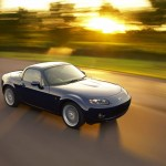 Mazda Mx5 Blue High Angle Moving Wallpaper