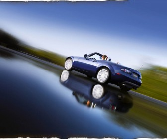 Mazda Mx5 Convertible Reflection Wallpaper